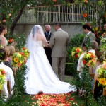 Kellogg House Wedding with priest