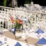 Kellogg House Outdoors table setting