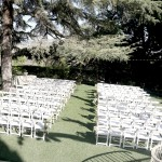 Kellogg House -lower level chair setup for wedding