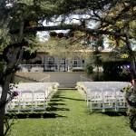 Kellogg House -lower level chair setup for wedding front view