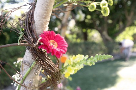 flower decor on branches