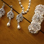 Jewelry with diamonds and pearls