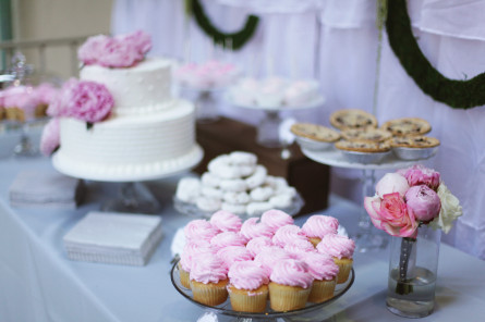 pastry table setup