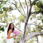 bride holding bouguet outdoors by tree-CG (9)