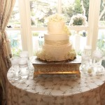 white cake on table