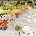 Kellogg House -long table with fall color setup